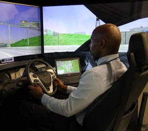 Practical application simulators like FAAC's LE-1000 training simulator increase knowledge retention during training. (image/FAAC)