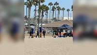 Calif. police shoot, kill armed man on beach near U.S. surfing competition