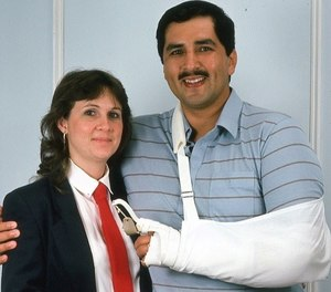 SA (Ret.) Ed Mireles pictured with his wife, Liz, in 1986.