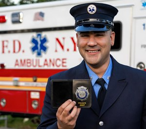 FDNY Probationary EMT Joel Rosado, who graduates today from the FDNY EMS Academy. (Photo/ New York Fire Department)