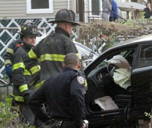 The driver lost control and plowed into a group of trick-or-treaters in New York City on Halloween, killing three. (AP Photo/David Greene)