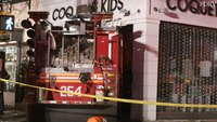 Video: 5 FDNY firefighters injured when engine crashes into Brooklyn store