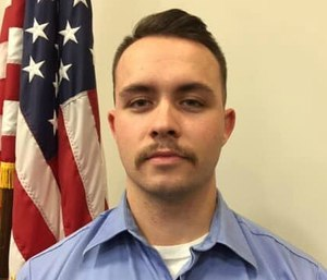 Firefighter-EMT Brett Wilson, 23, heard the crash and went to help. (Photo/Columbia Township, Columbia Station Information Page Facebook)