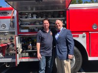Firefighters in Fire Trucks Getting Ice Cream – Dave Emanuel