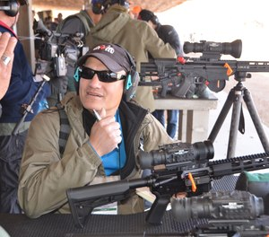 Lindsey got to steer rounds with a FLIR PTS536, a compact, weapon-mounted thermal sight with a shot-activated video recording. It proved to have enough sensitivity for shooting cold targets on a cold day.