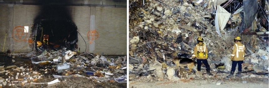 Photos released by the FBI in 2017 showdamage to the Pentagon caused during the 9/11 attacks.