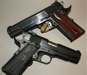 My arsenal has included both five-inch steel frame guns as well as my personal favorite, the 4.25-inch Commander-length version with a lightweight aluminum frame.