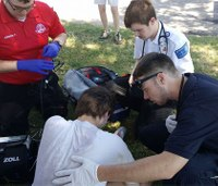 75 paramedic students complete all-day field ops training