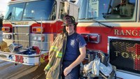 Teenager hired as Maine town's first full-time firefighter