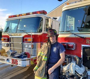 Camdan Carmichael was hired recently from among several applicants to be theFire Rescue Department'sfirst full-time firefighter, ChiefMichael Baconsaid.