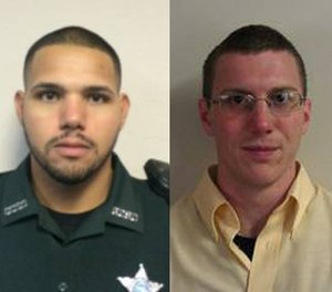 Sgt. Noel Ramirez, left, and Deputy Taylor Lindsey were killed while getting food at the Ace China restaurant.