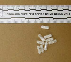 This photo made available by the Broward (Fla.) Sheriff's Office shows confiscated vials of flakka. This emerging drug can alter brain chemistry in such a way that users can't control their thoughts and it can increase adrenalin. (AP Photo/Broward Sheriff's Office via AP)