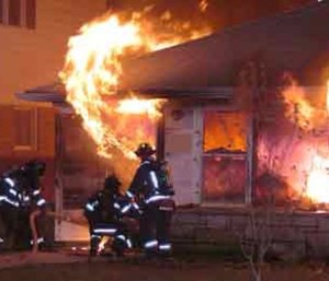 It's important that firefighters learn to identify the signs of backdraft. (Photo courtesy Warren Skalski)