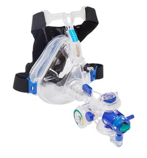 A CPAP/BiLevel device like Mercury Medical's Flow-Safe II Plus BiLevel helps meet the patient's flow demand.