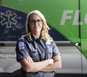 Floyd Medical Center EMT Desiree Hartmann rescued several people from a burning vehicle while off duty last month.
