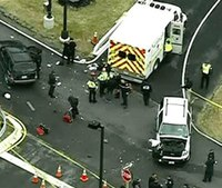 1 dead in shootout; car tries to ram Md. Army base gate