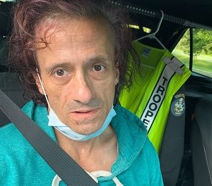 Fred Whitney, 49, was arrested for allegedly threatening a firefighter, law enforcement officers and court officials in a series of phone calls on Tuesday. (Photo/Maine State Police)