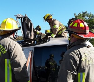 Practice good stabilization techniques with cribbing and struts. See if the tow companies can place a vehicle on its side or on its top for the training.