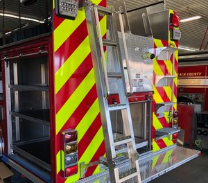 Some customers are specifying permanently mounted ladders on the back of apparatus as a safer means of accessing the hosebed or upper storage compartment areas.