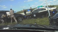 Watch: Fla. trooper crashes into vehicle to save deputy's life