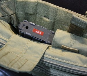The 5.11 2-Banger has two Velcro-flapped pouches in the rear section for two 30 round M16/M4 magazines. (Photo/Dick Fairburn)