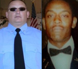 Sgts. Christopher Monica (left) and Curtis Billue.