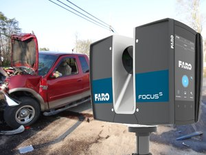 A 3D laser scanner captures evidence accurately while reducing road closure times. (photo/FARO)