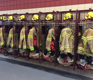 GearGrid's open-grid PPE drying and storage systems are designed and constructed to maximize a fire department's ability to quickly dry and effectively store PPE.