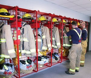 Today's firefighters need storage space that allows gear to properly dry after washing. (image/GearGrid)