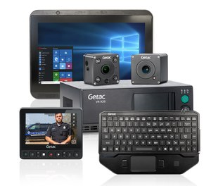 Getac Mobile Edge combines a Windows 10 computer and DVR in a single, compact in-vehicle package.