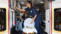 Using ultraviolet light to decontaminate ambulances