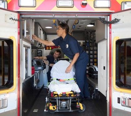 Using ultraviolet light to decontaminate ambulances