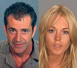 Mel Gibson and Lindsay Lohan have had infamous run-ins with the law. (AP Images)