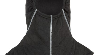 This new particulate-protective hood protects your neck from toxic substances and heat buildup