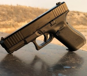 """Considered to be """"the ultimate service pistol"""" offered by Glock, the G45 enjoys the advancements and benefits of both the Crossover G19X and the Gen 5 pistols."""