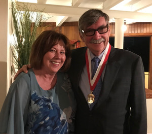 Gordon Graham, pictured with his wife, Renee, at the ceremony for the 2018 Howard W. Rayon Distinguished Service Award.