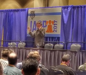 Gordon Graham speaks to the audience at IACP 2017.