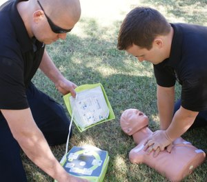 Law enforcement's fast response times gives them an upper hand on managing time-sensitive medical emergencies. (Photo/Griffith Blue Heart)