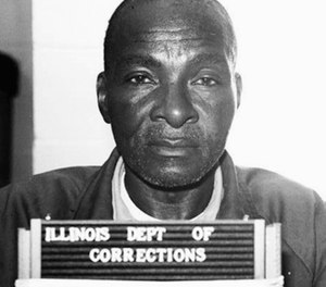 Grover Thompson in the Menard Correctional Center in Dwight, Ill. Just days before he left office former Gov. Bruce Rauner granted posthumous clemency to Thompson, the deceased Illinois prisoner convicted in a stabbing, to which serial killer Timothy Krajcir later confessed to committing. The Illinois Innocence Project at the University of Illinois in Springfield says Thompson received the first posthumous exoneration in Illinois history. (Illinois Department of Corrections via The Southern Illinoisan via AP, File)