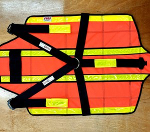 """The HERODrag System rescue device is compact, ultra-lightweight, foldable and consists of light, rigid plates allowing for """"hands-free"""" transport by first responders into hostile environments with a carrying case or in firefighter turnout gear pockets."""