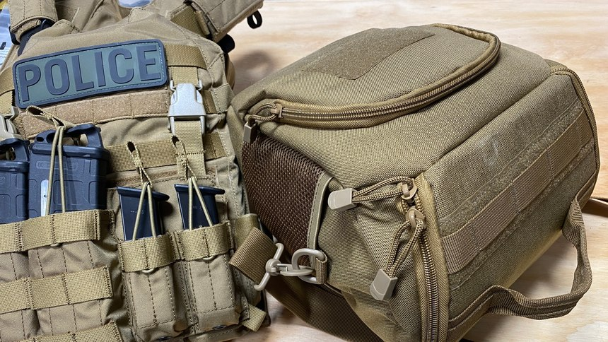 The HHV helmet bag is a great way to store your ATE ready to deploy with pockets for accessories like additional padding.