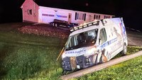 Maine ambulance carrying pediatric patient crashes into utility pole