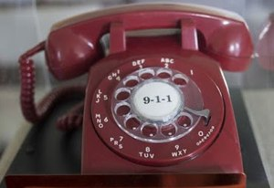 On February 16, 1968, the first 911 call was made in the United States using this phone. Photo/Haleyville Mayor Ken Sunseri via National Law Enforcement Museum
