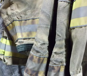 Soiled gear may include hazardous contaminants that warrants test.