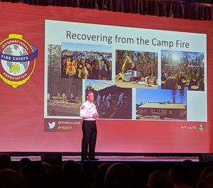 David Hawks shared details of the preparation, response and recovery efforts related to the destructive Camp Fire in Paradise, California, in 2018. (Photo/Janelle Foskett)