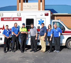 Helen Keller Hospital donates ambulance to the NW-SCC Emergency Medical Services program. (Photo/Northwest-Shoals Community College)