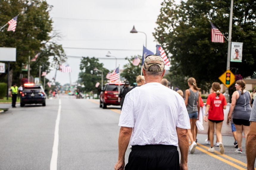 Frank Siller walks for every 9/11 victim and fallen first responder.