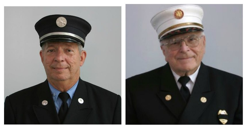 Edward F. Hine (left) and Chief Emeritus Lee Witman were best friends who served for decades as firefighters in Lower Paxton Township.