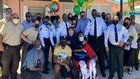 Watch: Miami-Dade CO gets hero's welcome home after near-fatal crash