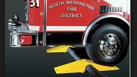 A case for fire hose ramps